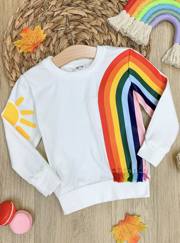 Girls Sun and Rainbow Sweater