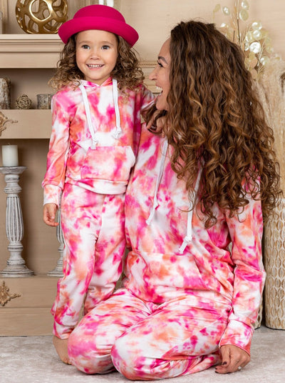 Mommy and Me Tie Dye Jogger Set 2T-10Y and S-XXL