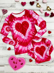 Mommy and Me Long Sleeves Tie Dye Heart Top 27-10-mom-S-xxl