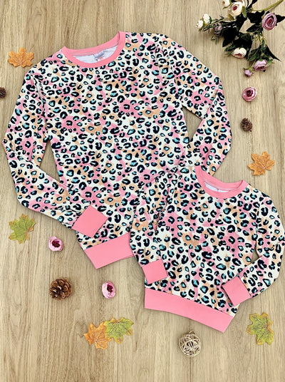 Mommy and Me Pastel Leopard Top