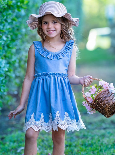 Girls Overflowing with Love Denim Dress