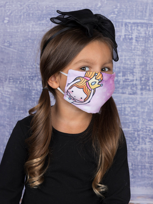 Kids Characters Reusable/Washable Face Masks with Filter