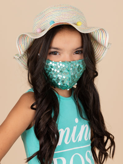 Adults and Kids Sequin Reusable/Washable Face Masks with Filter