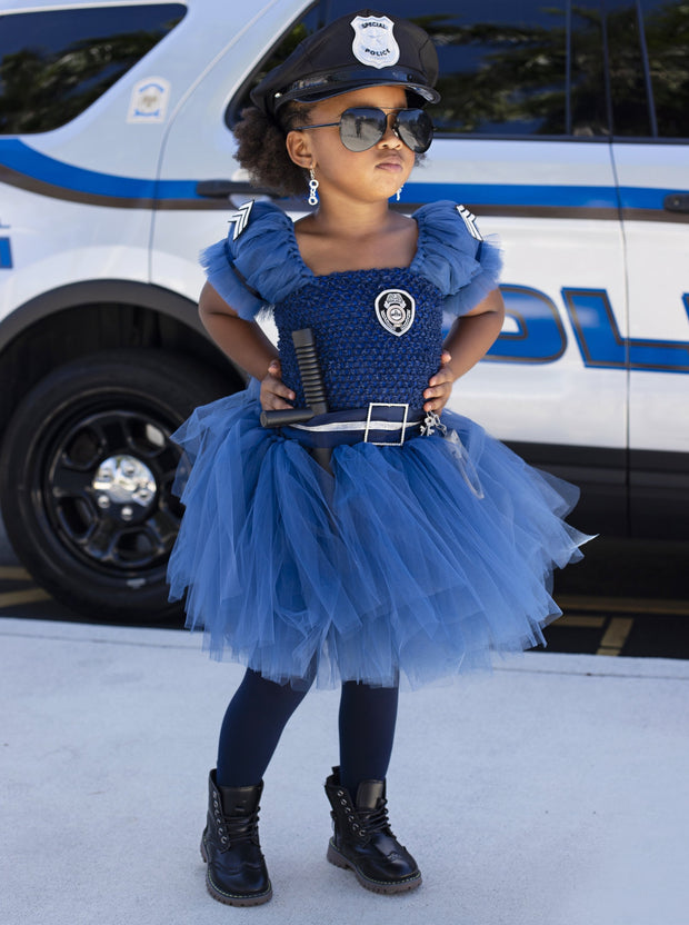 Girls Police Officer Inspired Costume
