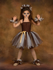 Girls Cute Lion Inspired Costume
