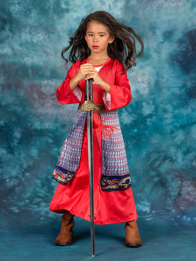Girls Deluxe Mulan Inspired Costume