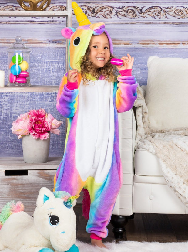 Mommy & Me Lilac Rainbow Unicorn Pajamas