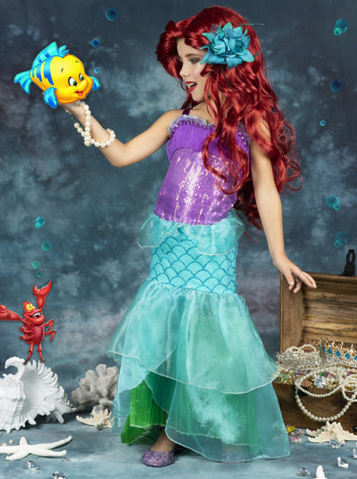 Girls Little Mermaid Ariel Inspired Costume