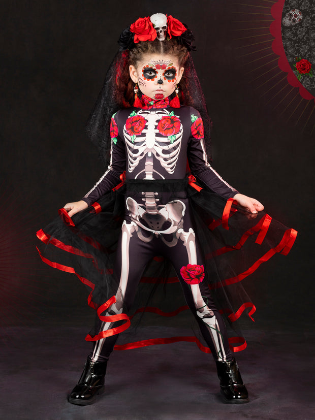 Girls Mommy and Me Day of The Dead Inspired Costume