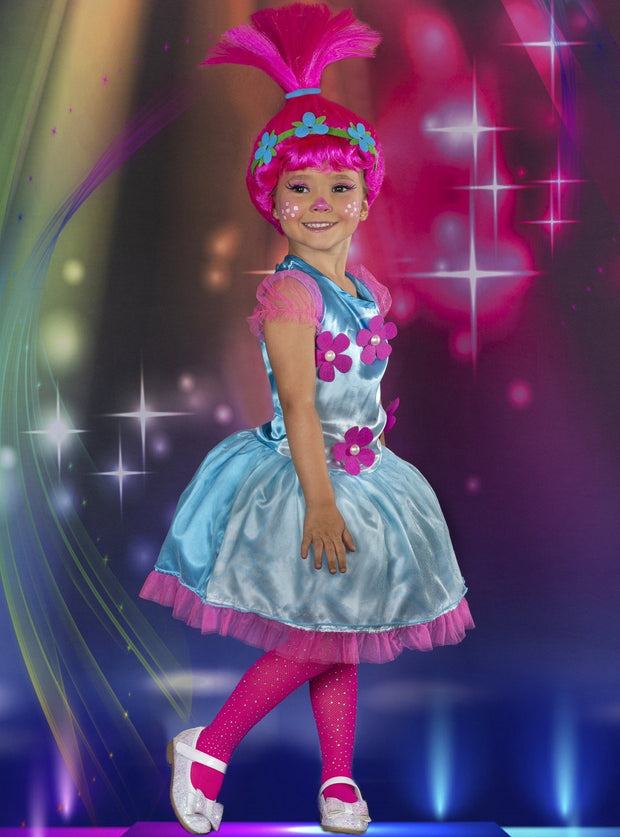 Girls Trolls Poppy Inspired Costume