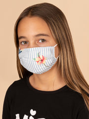 Adults and Kids Floral Pinstripe Reusable/Washable Face Masks with Filter