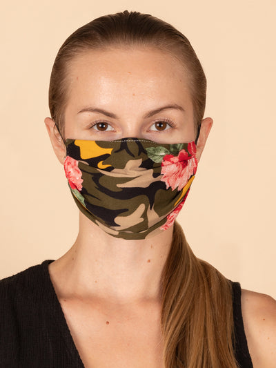 Adults and Kids Floral Camo Reusable/Washable Face Masks with Filter