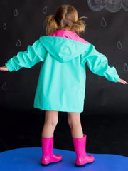 Girls Mint Rain Jacket