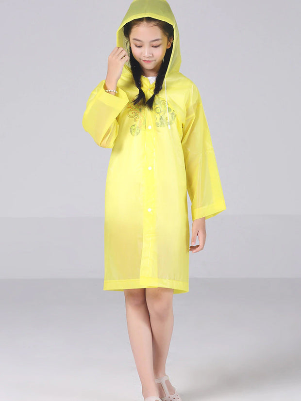 Girls Transparent Raincoat