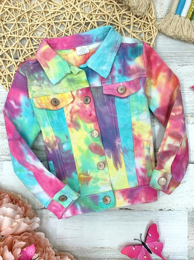 Girls Pastel Tie Dye Denim Jacket 2T-12Y