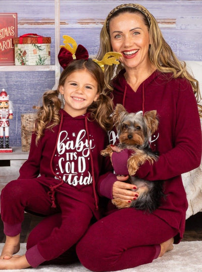 "Mommy and Me ""Baby It's Cold Outside"" Loungewear Set"