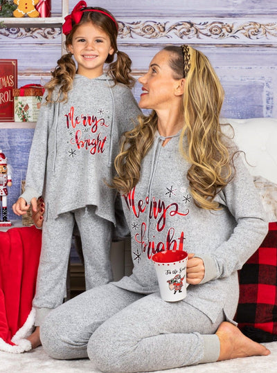"Mommy and Me ""Merry and Bright"" Loungewear Set Media 1 of 3"