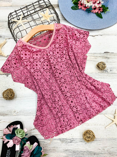 girls dusty pink cover-up 2T/3T to 10Y/12Y SWIM Spring
