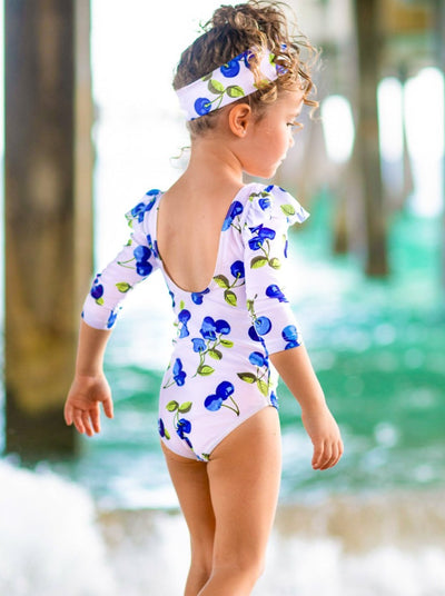 Girls Soak in the Fun Rash Guard One Piece Swimsuit