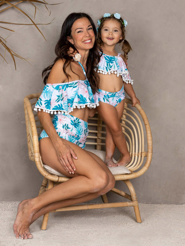 Girls Find Me Under the Palms Mommy & Me Swimsuit