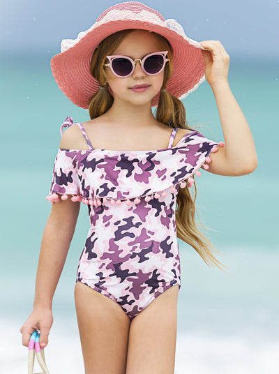 Girls Shine All Day One Piece Swimsuit