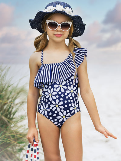 Girls Daisylicious One Piece Swimsuit