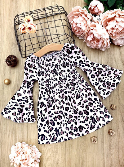 Girls Ruffled Sleeves Animal Printed Dress 2T-10Y  Spring Dress