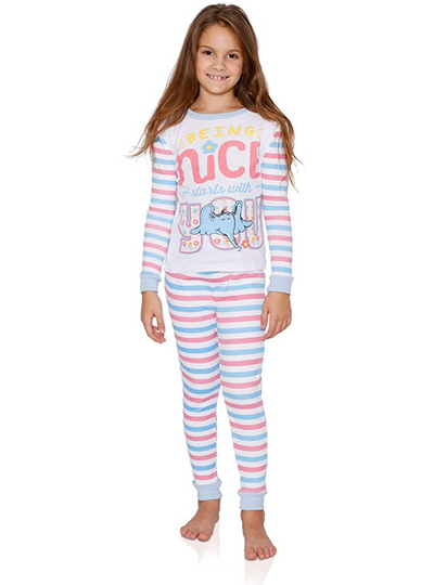 Dr. Seuss Cat in The Hat Check Meowt Girls Cotton Pajama Set