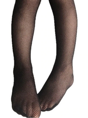 Girls Black Fishnet Tights (3 Style Options)