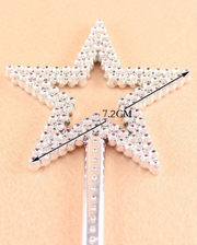 Girls Silver Fairy Princess Wand