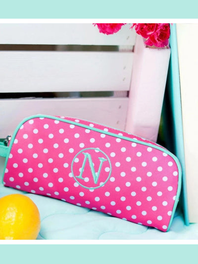 Girls Pink Dottie  Pencil Case