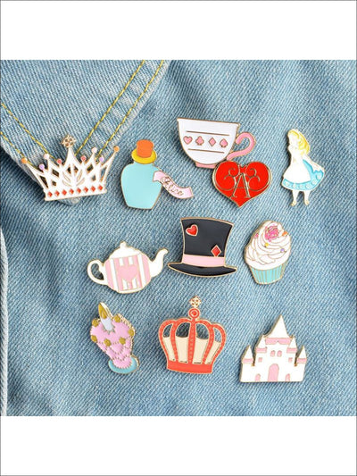 Alice in Wonderland Pins - 11pc set - Pins
