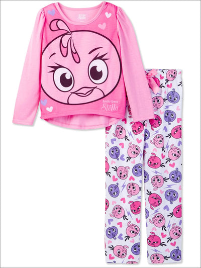 Angry Birds Girls Stella 2 Piece Pajama Sleep Set