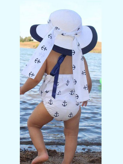 Baby Little Sailor Halter Style Onesie with Headband Set