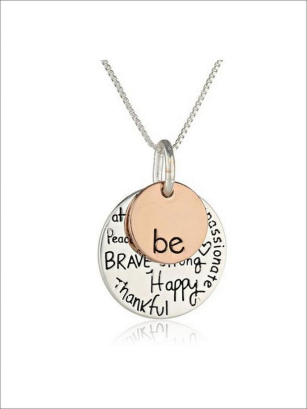 Be Inspirational Charm Necklace - Similar to Image - Necklace
