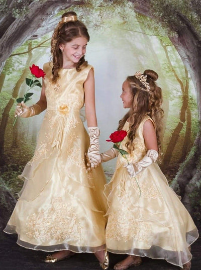 Belle from Beauty and the Beast Inspired Princess Dress - Girls Halloween Costume
