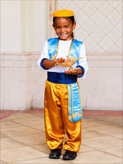 Boys Aladdin Inspired Deluxe 6 Piece Halloween Costume - Multicolor / 4T-6Y - Boys Halloween Costume