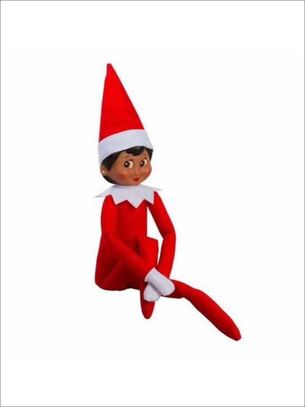 Boys & Girls Christmas Tradition Elf Toy (11 Colors) - Dark Skin Girl / One - Elf on the Shelf