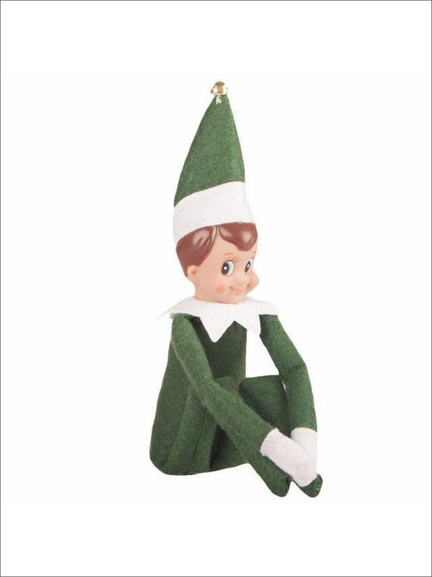 Boys & Girls Christmas Tradition Elf Toy (11 Colors) - Green Boy / One - Elf on the Shelf