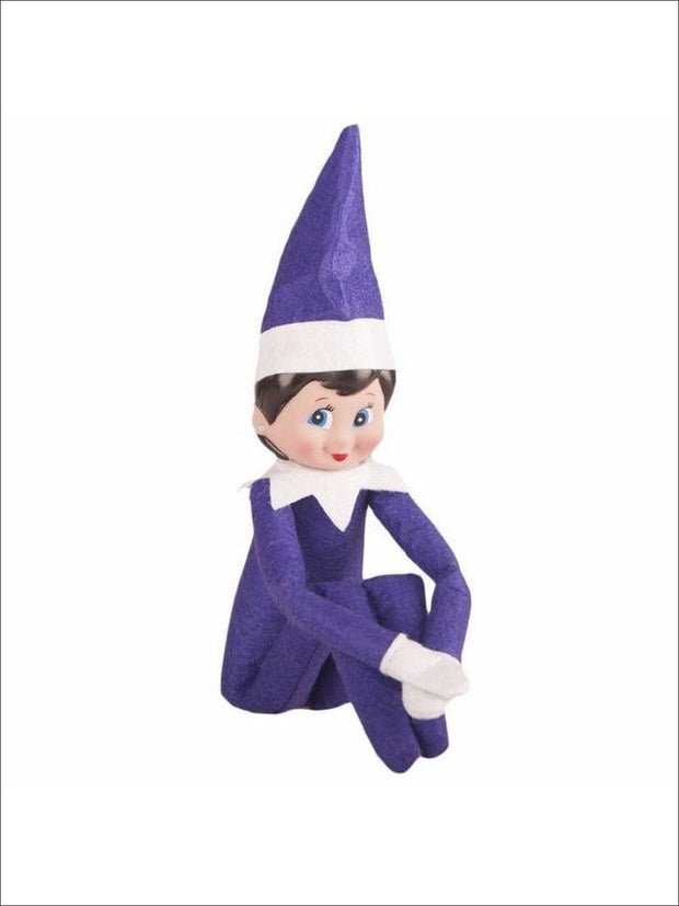 Boys & Girls Christmas Tradition Elf Toy (11 Colors) - Purple Girl / One - Elf on the Shelf