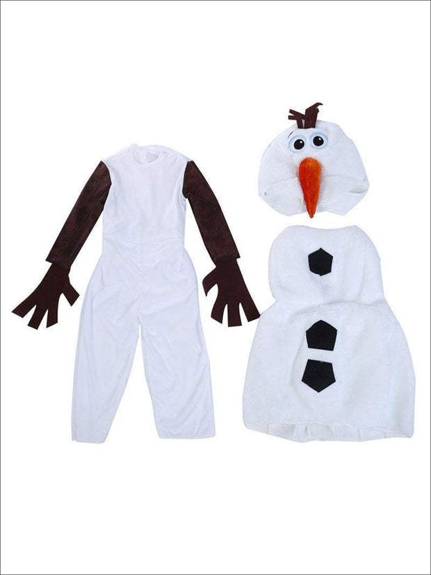 Boys Limited Edition Olaf from Frozen Inspired Costume - 2T/3T / White - Boys Halloween Costume