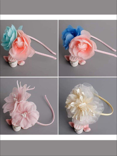 Butterfly Flower Headband - Hair Accessories