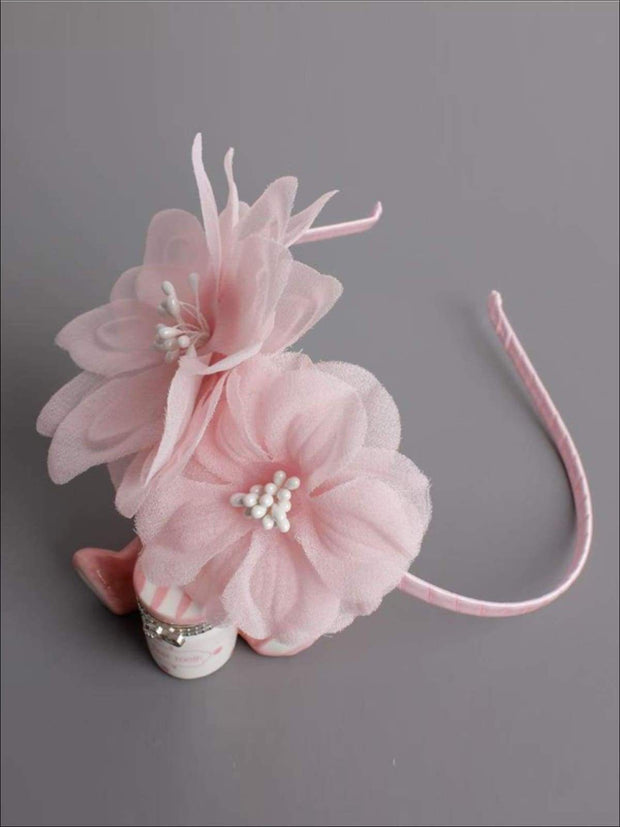 Butterfly Flower Headband - Pink / One - Hair Accessories