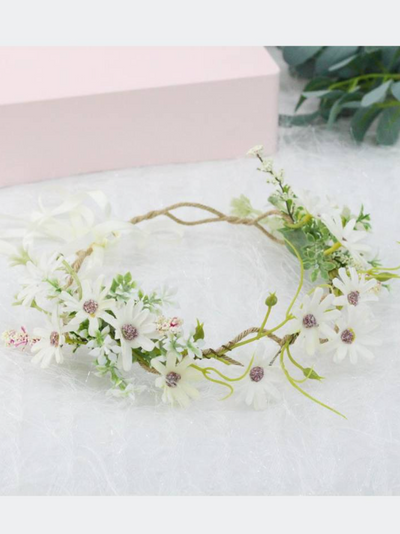 Girls Delicate Midsummer Vibes Flower Halo
