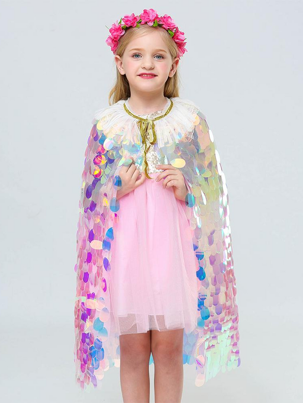 Girls Sequin Mermaid Cape