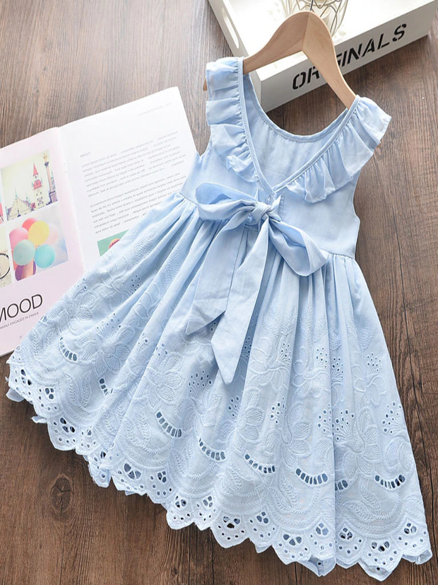 Girls Breezy Breeze Embroidered Summer Dress