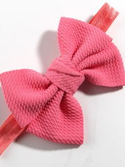Baby Little Bow Headband coral