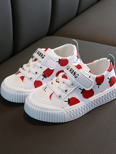 Girls Fruity Print Sneakers By Liv and Mia