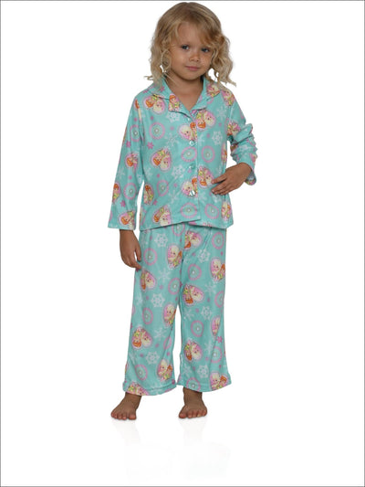 Disney Big Girls Frozen Fever Forever Fun 2-Piece Pajama Coat Set Teal 10