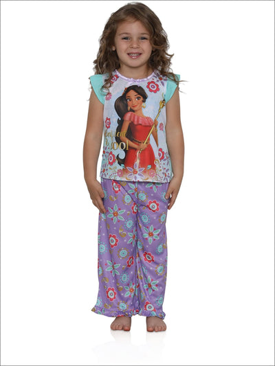 Disney Elena of Avalor Girls Confident & Cool 2-Piece Pajamas - mint multi